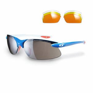 Sunwise Windrush Sports Sunglasses + 4 Lens Sets - Blue
