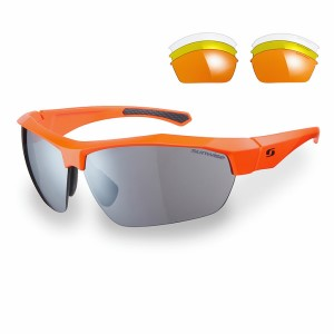Sunwise Shipley Sports Sunglasses - Orange (supplied with 4 sets of lenses)