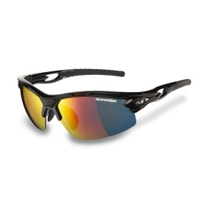 Sunwise Vertex Optics Sports Sunglasses - Black (Supplied with 4 sets of lenses)