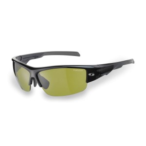 Sunwise Parade Black - Polarised, water repellent Sports Sunglasses