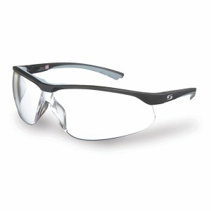 Sunwise Bulldog Safety Impact Sports Sunglasses - Black/Clear
