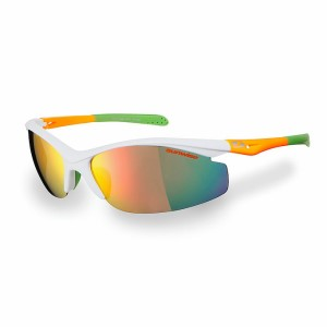 Sunwise Peak Sports Sunglasses - White/Orange/Green
