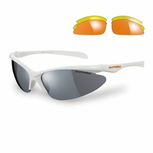 Sunwise Thirst Sports Sunglasses - White (supplied with 3 sets of lenses)