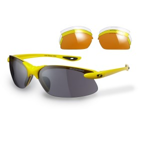 Sunwise Windrush Sports Sunglasses - Yellow (supplied with 4 sets of lenses)