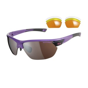 Sunwise Kennington Sports Sunglasses - Purple (supplied with 4 sets of lenses)