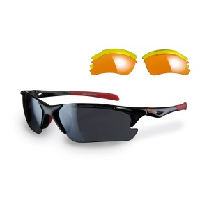 Sunwise Twister Sports Sunglasses - Black (supplied with 3 sets lenses)