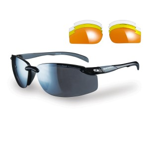 Sunwise Pacific Sports Sunglasses - Black (supplied with 4 sets of lenses)