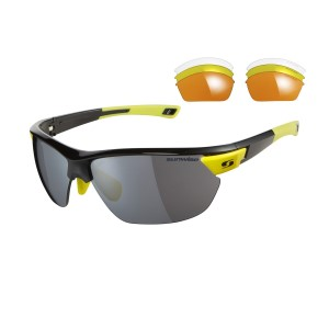 Sunwise Kennington Sports Sunglasses - Black (supplied with 4 sets of lenses)