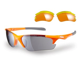 Sunwise Twister Sports Sunglasses - Orange (supplied with 3 sets of lenses)