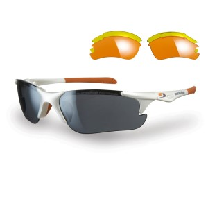 Sunwise Twister Sports Sunglasses + 3 Lens Sets - White